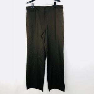 Ann Taylor Dress Pants Size 14 Brown Straight Leg